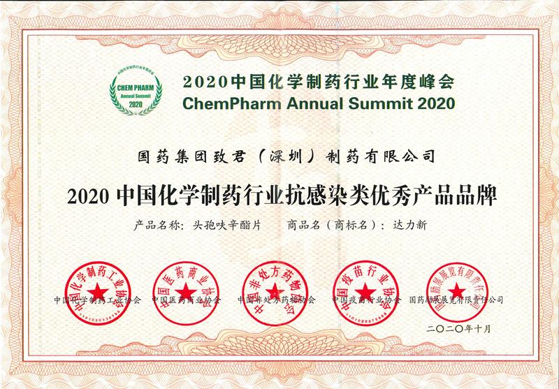 2020中国化学制药行业抗感染类优秀品牌-达力新片